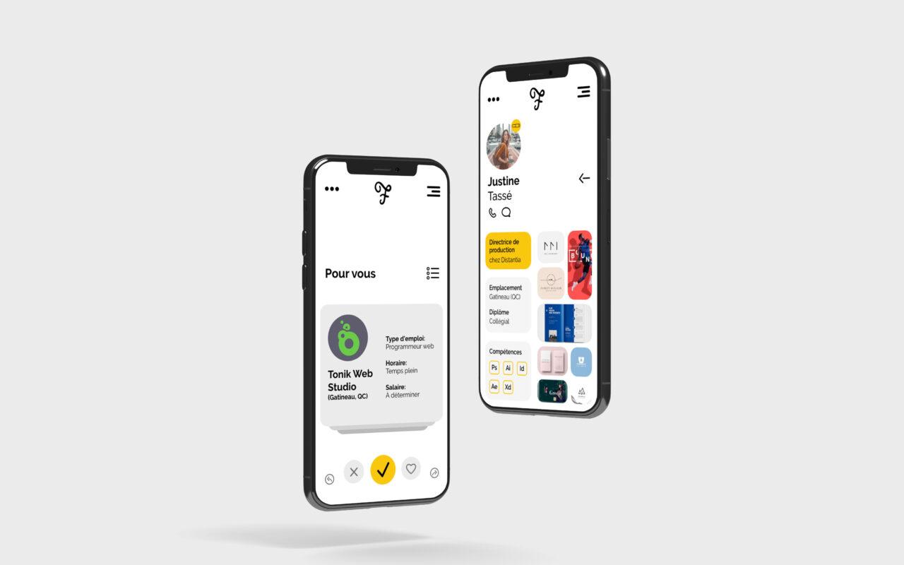 application mobile folio